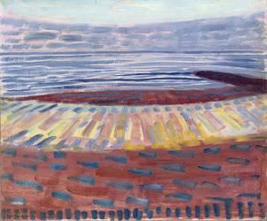 Mer après le coucher du soleil (Mondrian Piet) - Muzeo.com