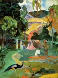 Metamoe (Paysage avec des paons) (Paul Gauguin) - Muzeo.com