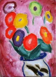 Nature Morte : Pot de Fleur sur un Coin de Table (Alexej von Jawlensky) - Muzeo.com