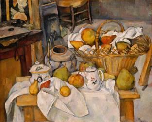 Nature morte au panier ou La Table de cuisine (Paul Cézanne) - Muzeo.com