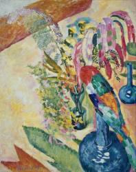 Nature morte au perroquet (Robert Delaunay) - Muzeo.com
