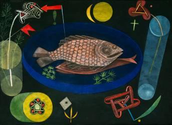 Nature Morte, autour du poisson (Paul Klee) - Muzeo.com