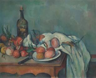 Nature morte aux oignons (Paul Cézanne) - Muzeo.com