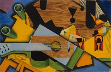 Nature morte avec Guitare (Juan Gris) - Muzeo.com