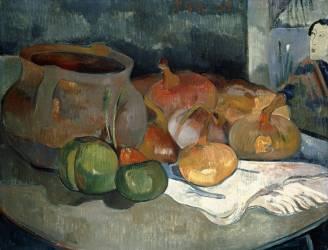 Nature morte avec théière et fruit (Paul Gauguin) - Muzeo.com