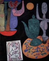 Nature Morte sur Fond Noir (Paul Klee) - Muzeo.com