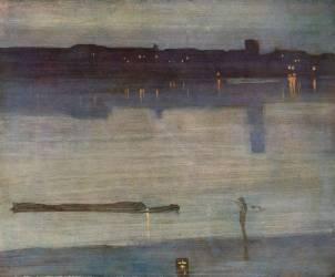 Nocturne en Bleu et Vert (James Abbott McNeill Whistler) - Muzeo.com