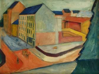 Notre Rue avec Piste Équestre, Bonn (August Macke) - Muzeo.com