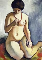Nu au Collier de Corail (August Macke) - Muzeo.com