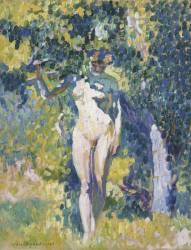 Nu dans un jardin (Henri-Edmond Cross) - Muzeo.com