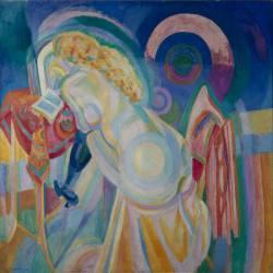Nu à la coiffeuse (Robert Delaunay) - Muzeo.com