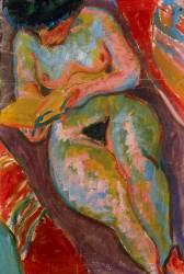 Nu féminin lisant (Ernst Ludwig Kirchner) - Muzeo.com