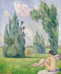 Nus dans un paysage (Bernard Emile) - Muzeo.com