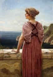 Observer l'Horizon (John William Godward) - Muzeo.com