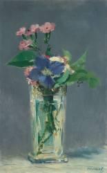 Oeillets et clématites dans un vase de cristal (Edouard Manet) - Muzeo.com