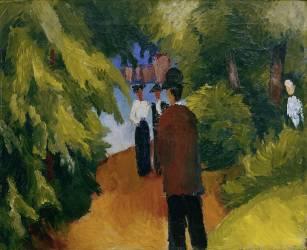 Parc avec Etang (August Macke) - Muzeo.com