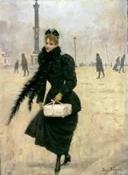 Parisienne, place de la Concorde (Béraud Jean) - Muzeo.com