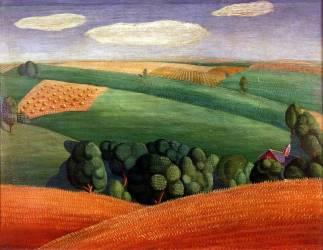 Paysage agricole (Grant Wood) - Muzeo.com