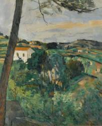 Paysage au toit rouge ou le pin d'Estaque (Paul Cézanne) - Muzeo.com