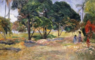 Paysage aux trois arbres (Paul Gauguin) - Muzeo.com