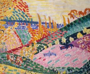 Paysage aux vaches (Delaunay Robert) - Muzeo.com