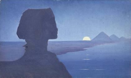 Paysage avec le sphinx (Osbert Alphonse) - Muzeo.com