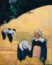 Paysage breton ou la moisson (Bernard Emile) - Muzeo.com