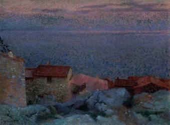Paysage côtier (Cross Henri-Edmond) - Muzeo.com