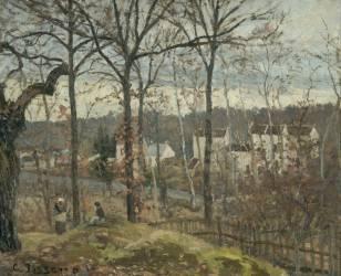 Paysage d'hiver à Louveciennes (Camille Pissarro) - Muzeo.com