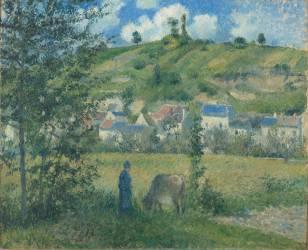 Paysage à Chaponval (Val d'Oise) (Camille Pissarro) - Muzeo.com