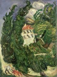 Paysage à l'âne rouge (Chaïm Soutine) - Muzeo.com