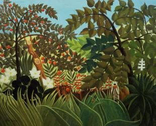 Paysage exotique (Le Douanier Rousseau) - Muzeo.com