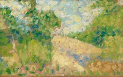 Paysage rose (Georges Seurat) - Muzeo.com