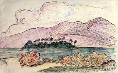 Paysage tahitien (Paul Gauguin) - Muzeo.com