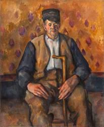 Paysan assis (Paul Cézanne) - Muzeo.com