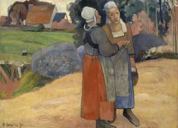 Paysannes bretonnes (Paul Gauguin) - Muzeo.com