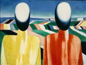 Paysans (Kazimir Malevitch) - Muzeo.com
