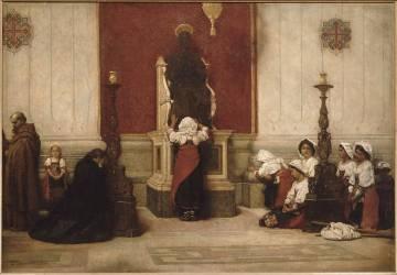Pèlerins au pied de la statue de saint Pierre de Rome (Bonnat Léon Joseph Florentin) - Muzeo.com