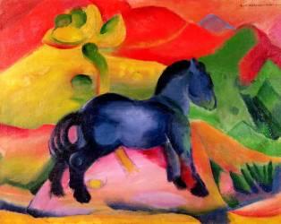 Petit cheval bleu (Franz Marc) - Muzeo.com