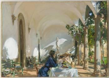Petit-déjeuner dans la loggia (John Singer Sargent) - Muzeo.com