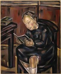 Petite fille lisant (Blanchard Maria) - Muzeo.com