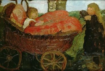 Petite Fille poussant un Landau (Paula Modersohn-Becker) - Muzeo.com