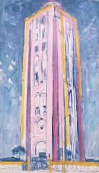 Phare de Westkapelle, en orange, rose, violet et bleu (Mondrian Piet) - Muzeo.com