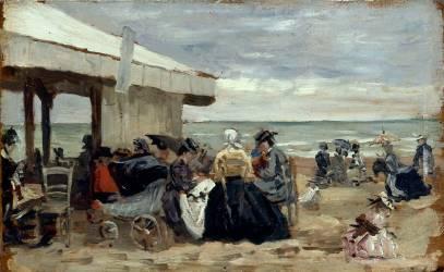 Plage (Louis-Eugène Boudin) - Muzeo.com