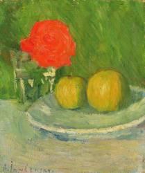 Pommes et une Rose (Alexej von Jawlensky) - Muzeo.com