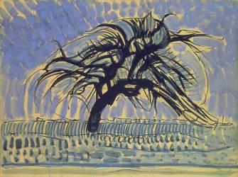 Pommier en bleu (Piet Mondrian) - Muzeo.com