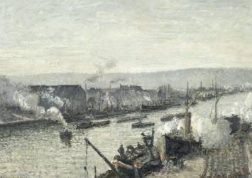 Port de Rouen, Saint Sever (Pissarro Camille) - Muzeo.com
