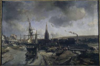 Port d'Harfleur (Jongkind Johan Barthold) - Muzeo.com