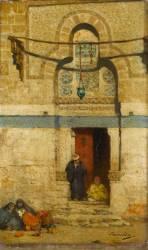 Porte du tombeau de Mourad bey au Caire (Berchère Narcisse) - Muzeo.com