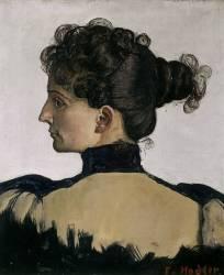 Portrait de Berthe Jacques (Ferdinand Hodler) - Muzeo.com